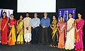 Digambar Kamat and the Director General, Films Division, Shri Kuldeep Sinha during the felicitation function, at the DANCING FEET Films on Classical Dances & Gurus, during the IFFI-2010, in Panjim, Goa on November 27, 2010.jpg