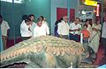 Dignitaries Watching Ankylosaurus - Dinosaurs Alive Exhibition - Science City - Calcutta 1995-06-15 225.JPG