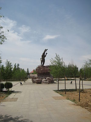Xilingol League - Dinosaur statue in Erenhot