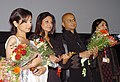 """Director Rituparno Ghosh alongwith actors Shefali Shah and Divya Dutta at a Premiere of the film """"The Last Lear"""" at IFFI 2007 at Panaji, Goa on November 30, 2007. also seen is the Director of film festival Mrs Neelam Kapur.jpg"""
