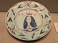Dish commemorating William III, c. 1689-1702, Brislington (near Bristol), tin-glazed earthenware - Gardiner Museum, Toronto - DSC01269.JPG