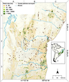 Distribution of remaining forest patches across the northern Atlantic Forest in Brazil - journal.pone.0041671.g001.png