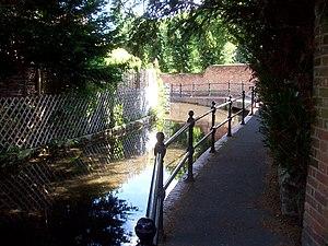 Ditton, Kent - The ford in Bradbourne Stream, Ditton