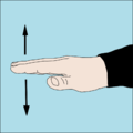 Dive hand signal Slow down.png
