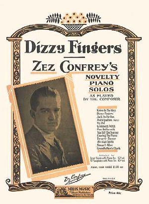 "Zez Confrey - The sheet music for ""Dizzy Fingers""."