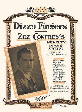 "Zez Confrey - The sheet music for ""Dizzy Fingers""."