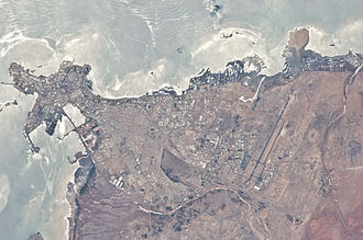 Djibouti (city) - Space image of Djibouti City.