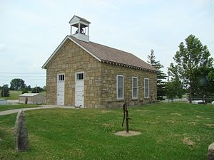 Emporia State University - The one-room schoolhouse on the Emporia State University campus.