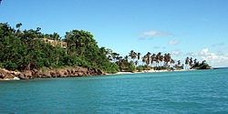 Cayo Levantado in Samana Bay is one of the many cays in the D.R.