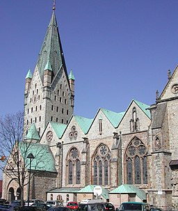 South side of the Paderborn Cathedral, Germany