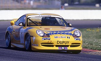 Porsche Supercup - Porsche 911 GT3 Cup (996) front (Pictured racing in Carrera Cup France)