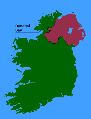 Donegal Bay - Location of Donegal Bay.