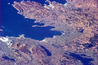 Blue Stack Mountains - Image: Donegal and Sligo from the International Space Station 2013 03 17