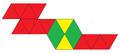 Double diminished icosahedron net.png