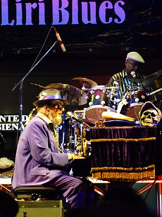 Dr. John - Dr.John at the Liri Blues Festival, Italy, July 2010.
