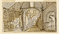 Drawing, Stage Design, Church Interior, early 19th century (CH 18542059).jpg