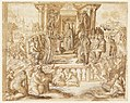 Drawing, Study for a Fresco- Allegory in Honor of Ranuccio Farnese, before 1553 (CH 18109373).jpg