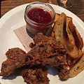 Duck liver mousse and fried duck (17348724181).jpg