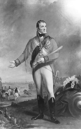 Wellington boot - The Duke of Wellington at Waterloo. By James Lonsdale, 1815. Here he is portrayed wearing tasselled Hessian boots
