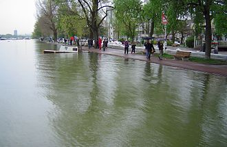 2006 European floods - Danube at Zemun, Serbia, at its highest level