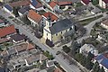Dusnok, katolikus templom légi felvételen.jpg