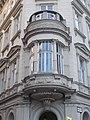 Dwelling building. Monument ID 12131. Balcony. - 1., József Attila St., Budapest.JPG