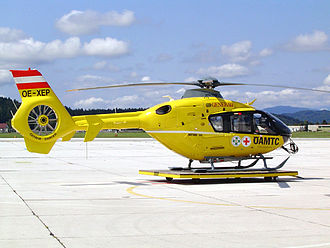 Eurocopter EC135 - EC135 T2 air ambulance of the Austrian Air Rescue service in Klagenfurt, Austria