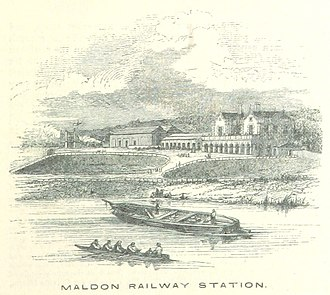 Maldon, Essex - Maldon East railway station in 1851.