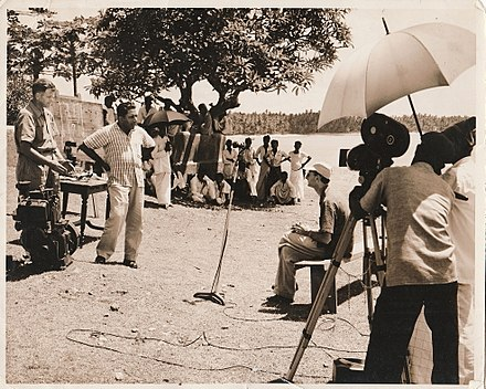 FAO fisheries expert, Ceylon, 1950s ER Kvaran being filmed, Sri Lanka, Ca. 1956.jpeg