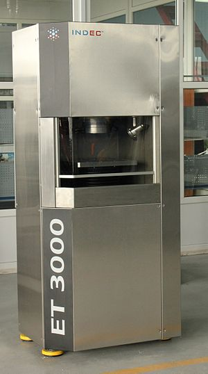Electrochemical machining - An ET 3000 ECM machine by INDEC of Russia