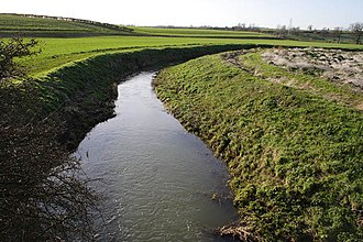 River Glen, Lincolnshire - The East Glen river between Edenham and Lound