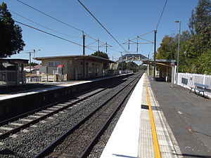 East Ipswich railway station - Westbound view from Platform 1 in September 2012