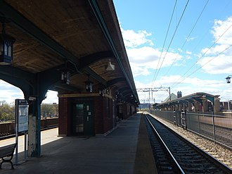 East Orange station - The East Orange station in April 2015, facing toward Brick Church.