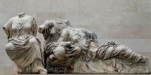 Leto, Artemis and Aphrodite, from Parthenon ea...