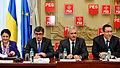 Ecaterina Andronescu, Andrei Dolineaschi, Liviu Dragnea, Victor Ponta, reuniunea BPN a PSD - 06.01.2014 (11797324393).jpg