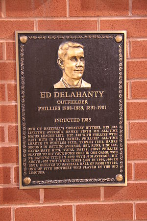 Philadelphia Phillies all-time roster (D) - Image: Ed Delahanty plaque