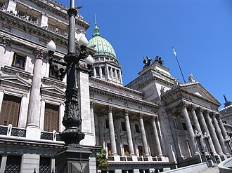 Constitution of Argentina - Congress building in Buenos Aires, Argentina