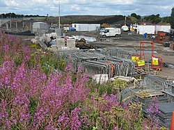 Edinburgh tram contractors site (geograph 3577846).jpg