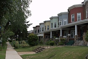 Edmondson Avenue Historic District - Row houses in the 700 block of Whitmore Avenue