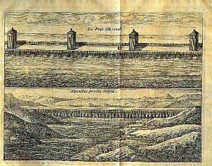 Suleiman Bridge - A 1674 view of the Suleiman Bridge by Edward Brown