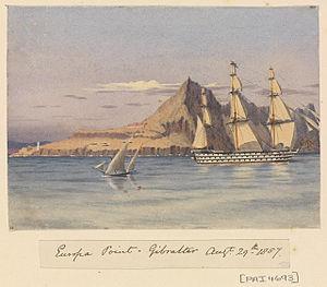 Edward Gennys Fanshawe, Europa Point, Gibraltar, Augt 29th 1857.jpg