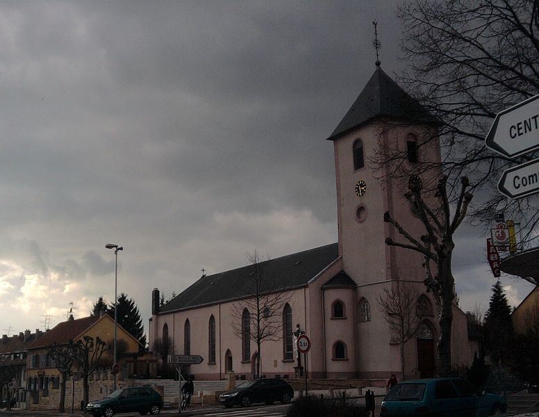 St Denis church in Sarreguemines, Moselle (France).