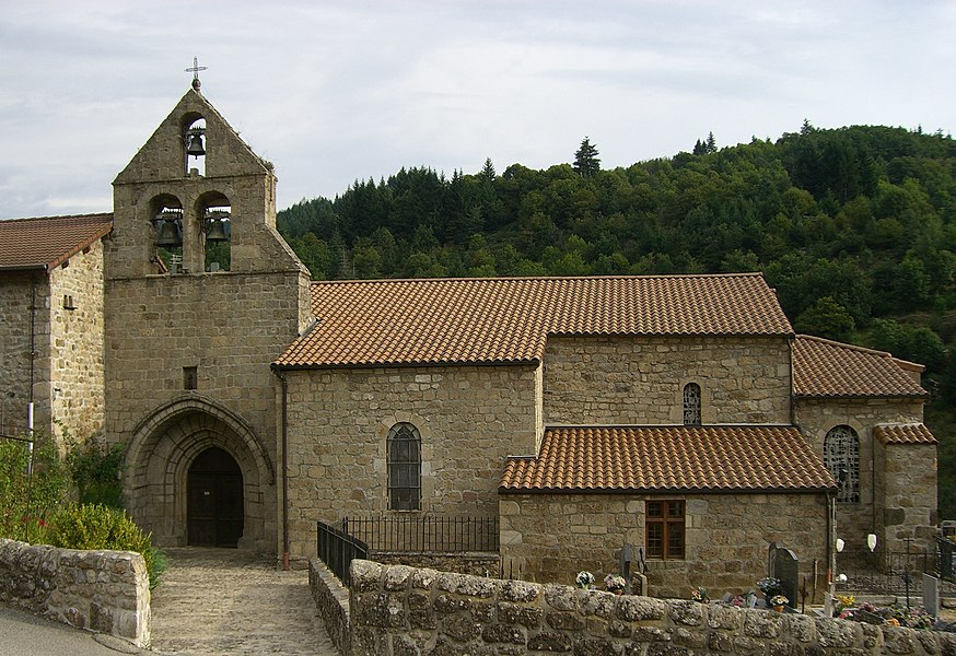 Church of Mariac, Ardèche, FRANCE