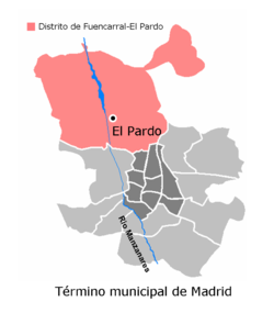 Location of El Pardo