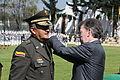 El presidente Juan Manuel Santos, impondrá la cuarta estrella al Director General de la Policía Nacional (8251960247).jpg