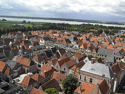 View of Elburg from the church tower
