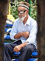 Elderly Man with Shades in Public Park - Andijon - Uzbekistan (7543613432).jpg