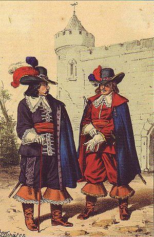 Battle of Nauen - Brandenburg captain and lieutenant of Electress Dorothea's Own Infantry Regiment, ca. 1675