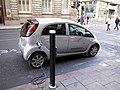 Electric car refuelling, Collingwood Street (geograph 2726139).jpg