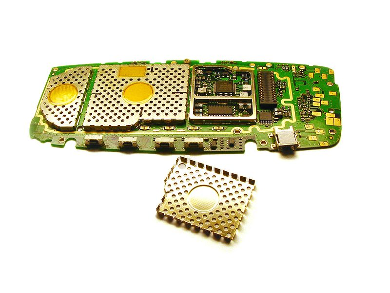 File:Electromagnetic shielding inside mobile phone.jpg